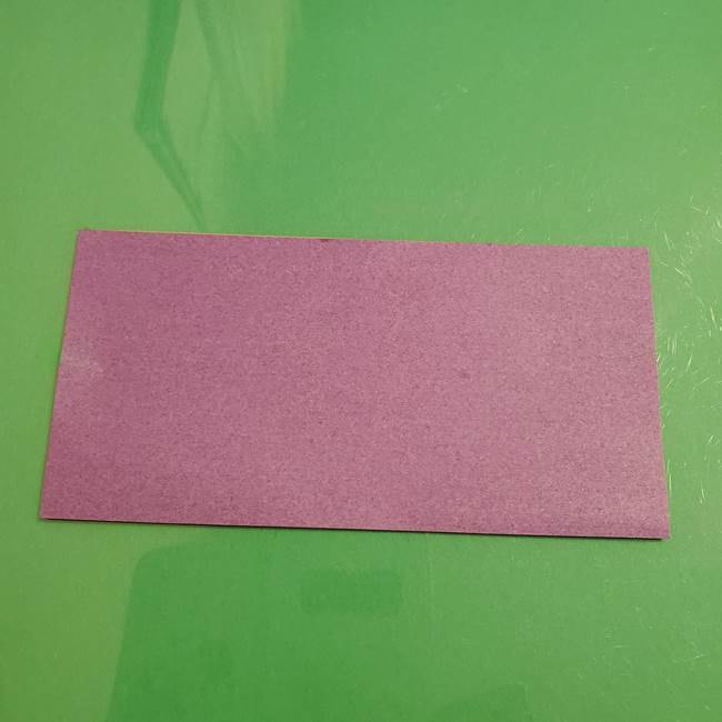 折り紙でなすを立体的につくる折り方作り方①実(2)