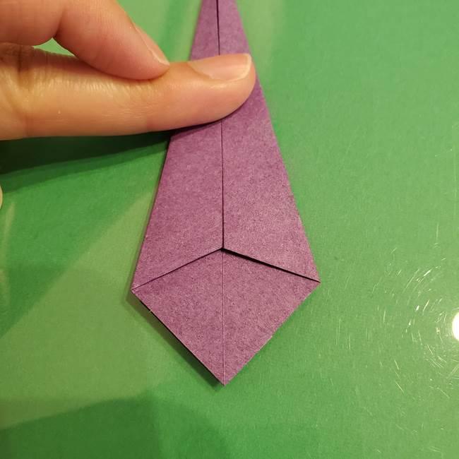 折り紙でなすを立体的につくる折り方作り方①実(20)