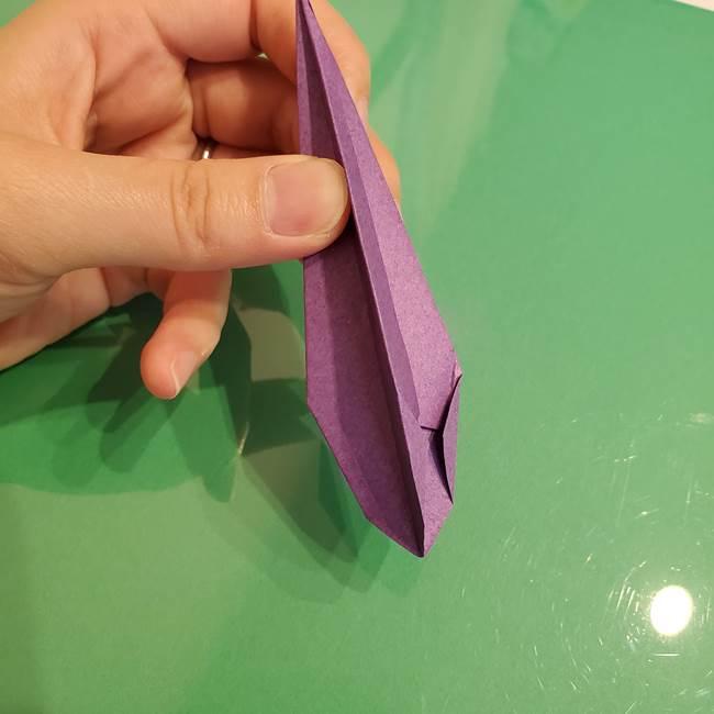 折り紙でなすを立体的につくる折り方作り方①実(22)