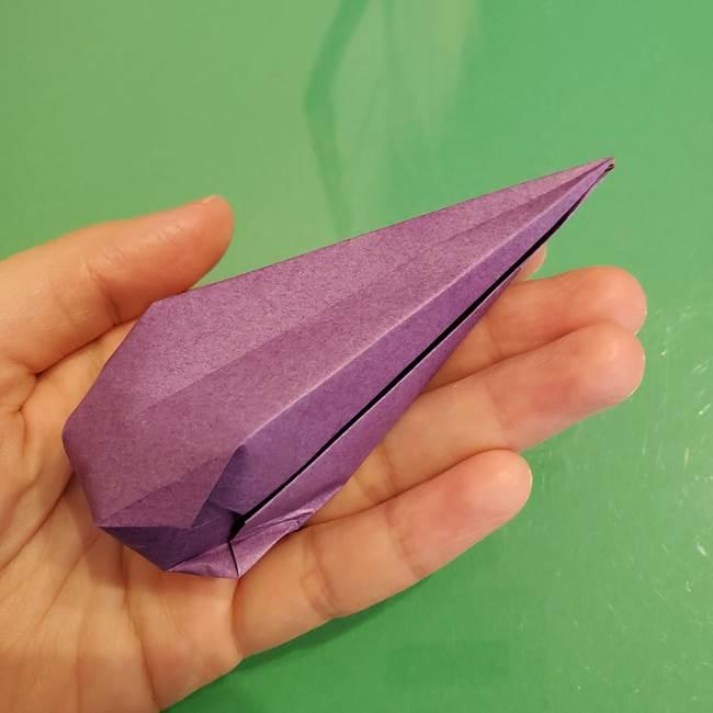 折り紙でなすを立体的につくる折り方作り方①実(24)