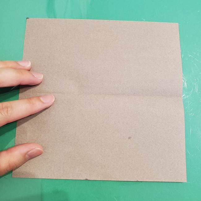 折り紙でなすを立体的につくる折り方作り方①実(3)