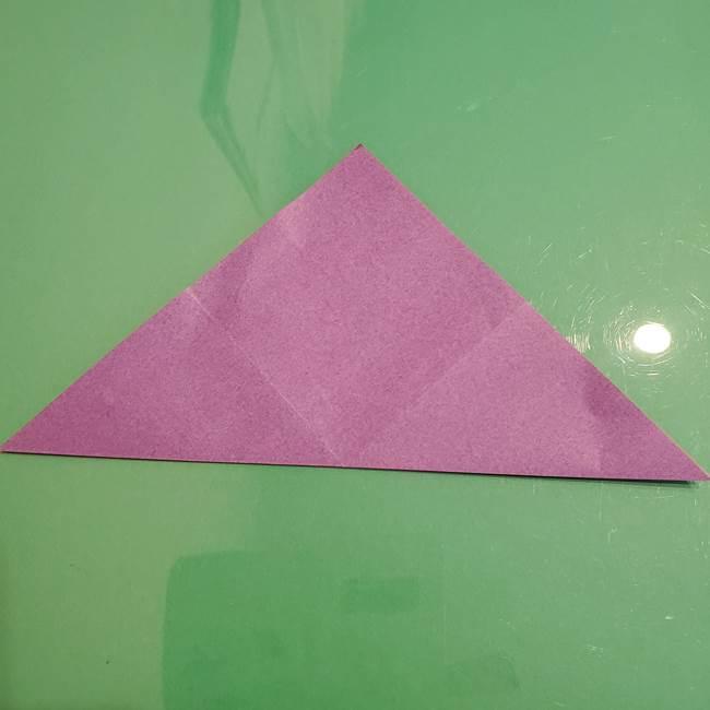 折り紙でなすを立体的につくる折り方作り方①実(6)