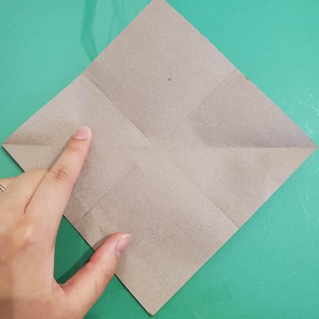 折り紙でなすを立体的につくる折り方作り方①実(7)