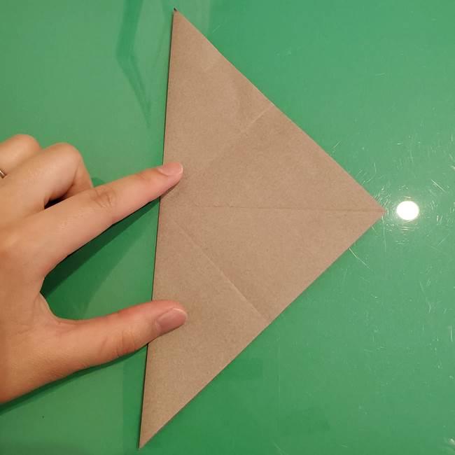 折り紙でなすを立体的につくる折り方作り方①実(8)