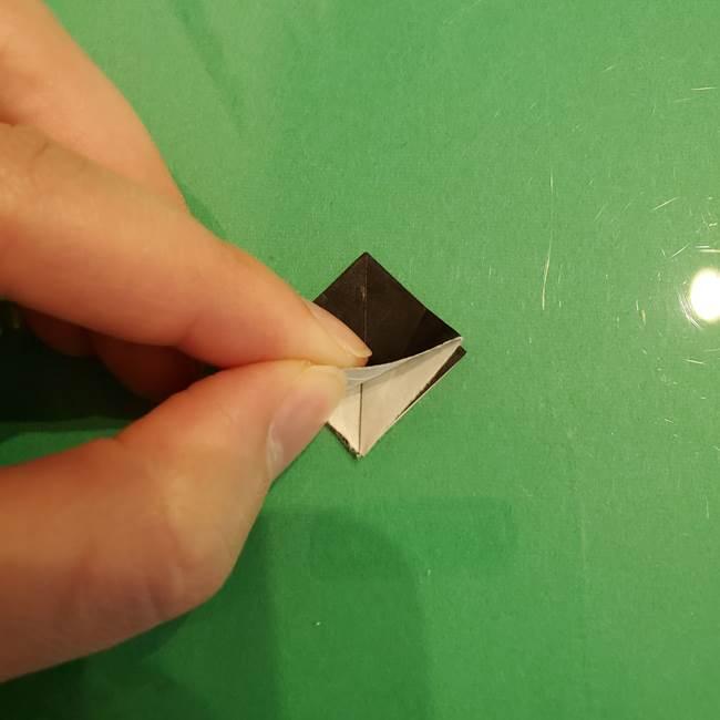 折り紙でなすを立体的につくる折り方作り方②へた(2)