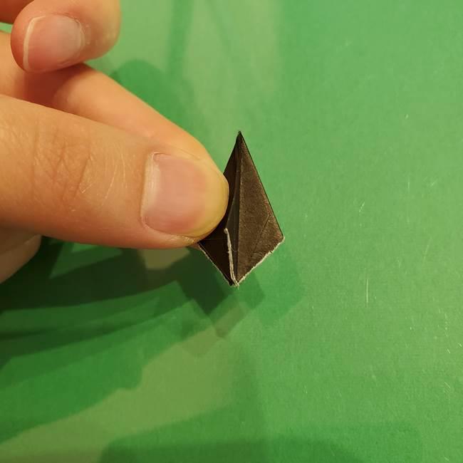折り紙でなすを立体的につくる折り方作り方②へた(4)