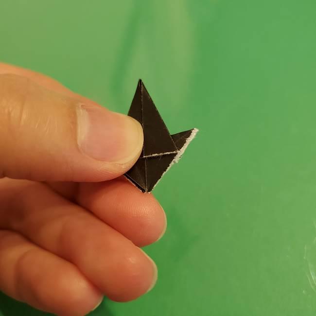 折り紙でなすを立体的につくる折り方作り方②へた(6)