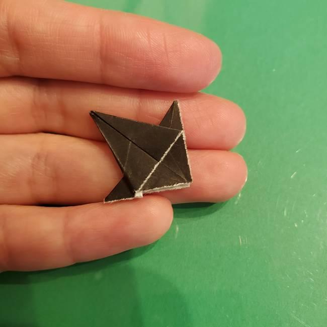 折り紙でなすを立体的につくる折り方作り方②へた(7)