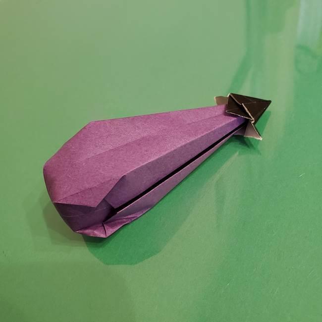 折り紙でなすを立体的につくる折り方作り方☆簡単かわいい夏野菜!