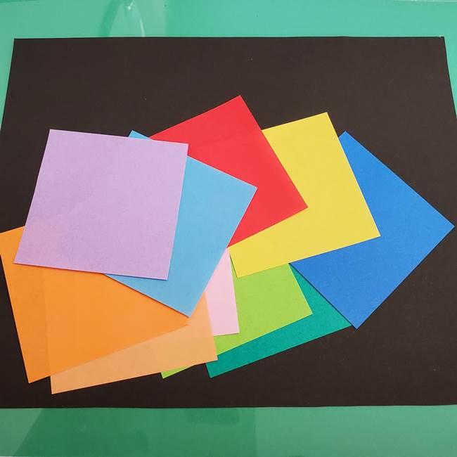 折り紙で花火の貼り絵・ちぎり絵を作るときに必要な物1