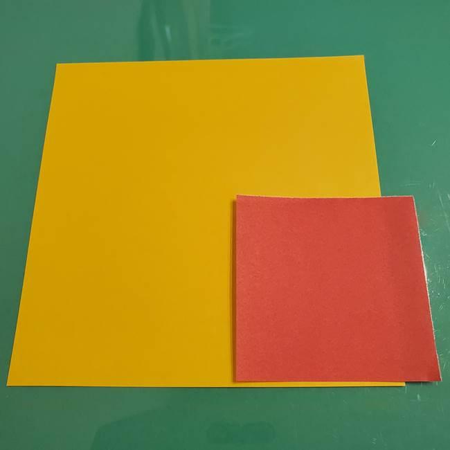 折り紙のひまわり(立体)は難しいけど材料はこれだけ!(1)