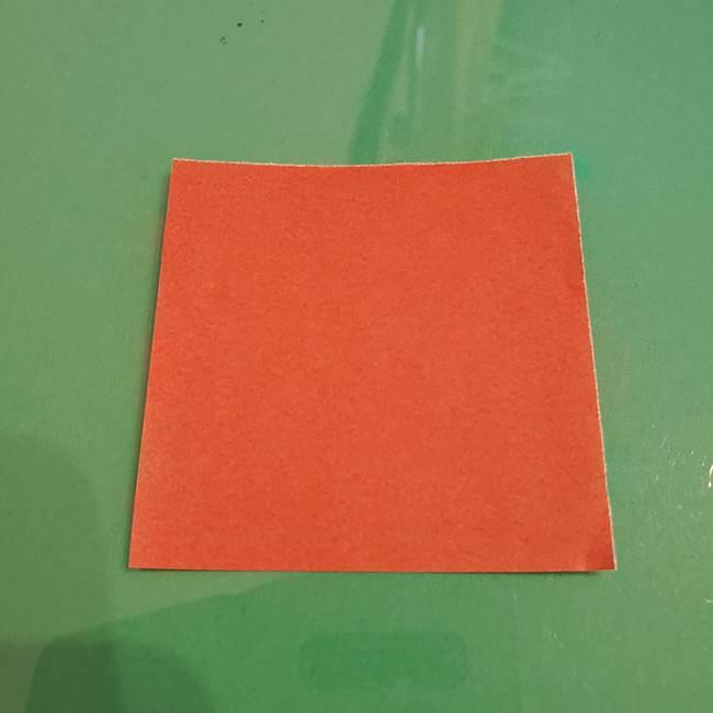 折り紙のひまわり 立体的で少し難しい作り方折り方①貼り合わせ(2)