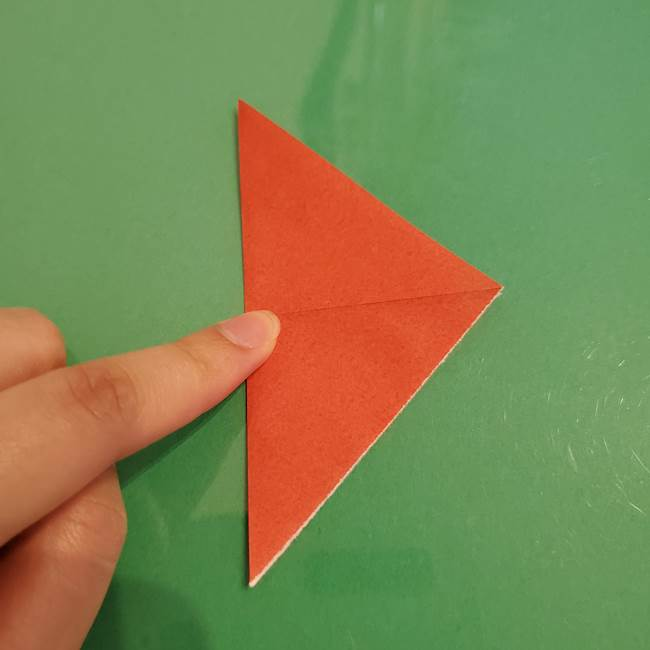 折り紙のひまわり 立体的で少し難しい作り方折り方①貼り合わせ(5)
