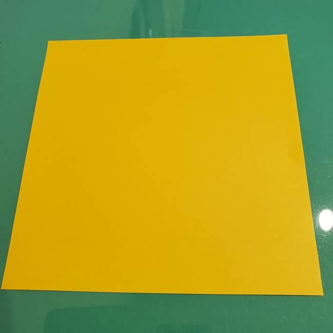 折り紙のひまわり 立体的で少し難しい作り方折り方①貼り合わせ(7)