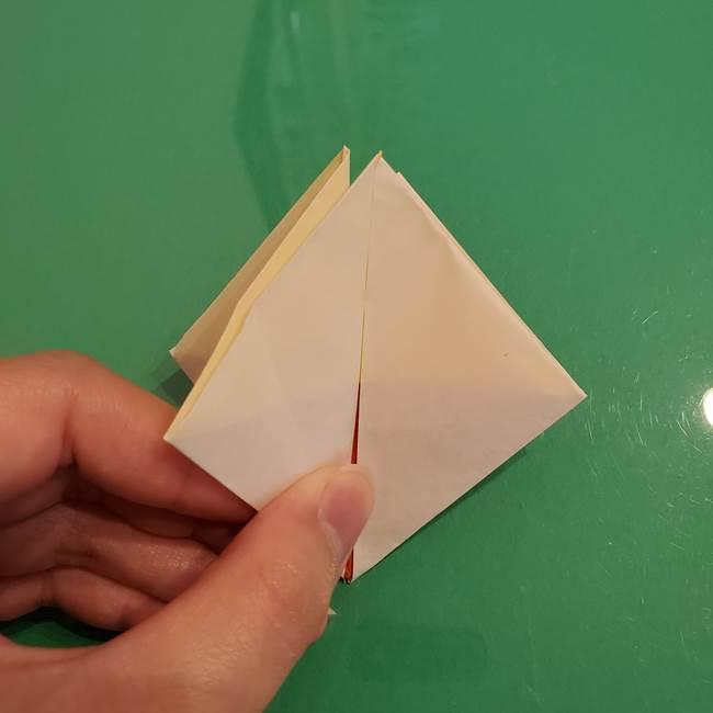 折り紙のひまわり 立体的で少し難しい作り方折り方②折る(11)