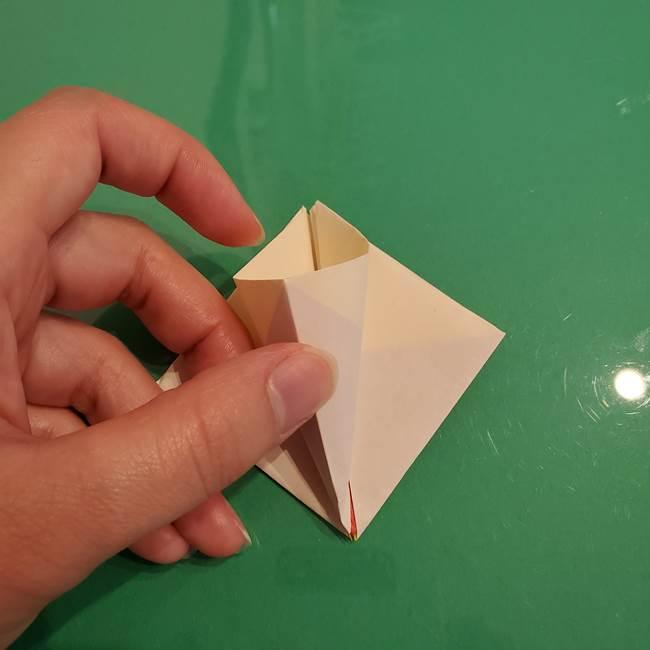 折り紙のひまわり 立体的で少し難しい作り方折り方②折る(12)