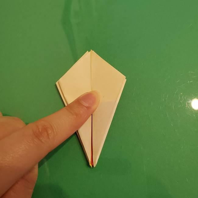 折り紙のひまわり 立体的で少し難しい作り方折り方②折る(19)