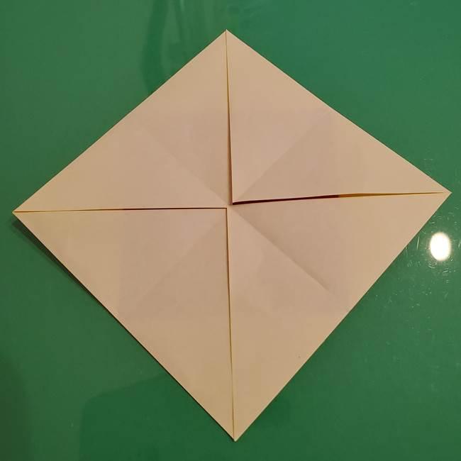 折り紙のひまわり 立体的で少し難しい作り方折り方②折る(2)