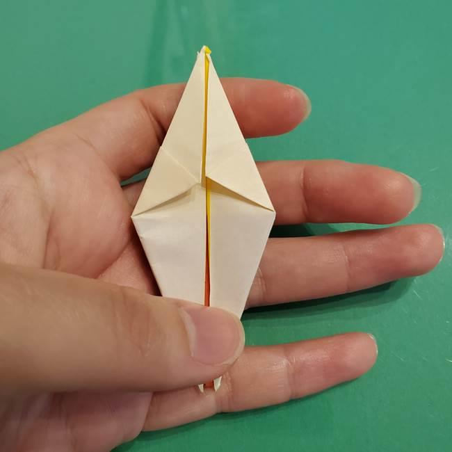折り紙のひまわり 立体的で少し難しい作り方折り方②折る(25)