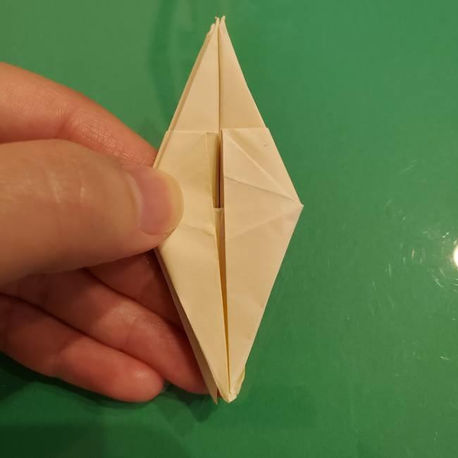 折り紙のひまわり 立体的で少し難しい作り方折り方②折る(29)