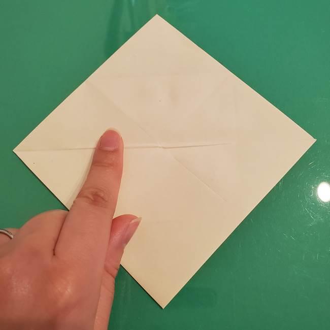 折り紙のひまわり 立体的で少し難しい作り方折り方②折る(3)