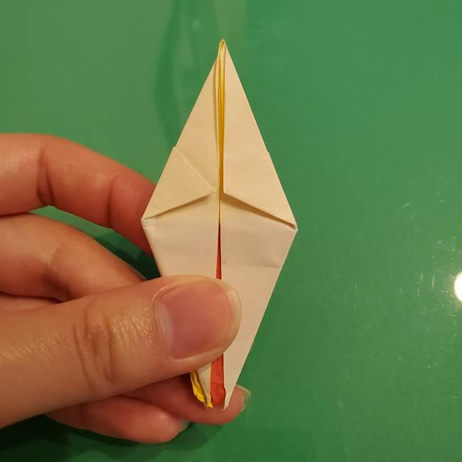 折り紙のひまわり 立体的で少し難しい作り方折り方②折る(30)