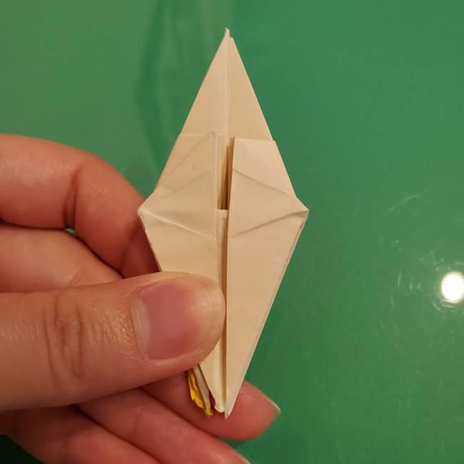折り紙のひまわり 立体的で少し難しい作り方折り方②折る(31)