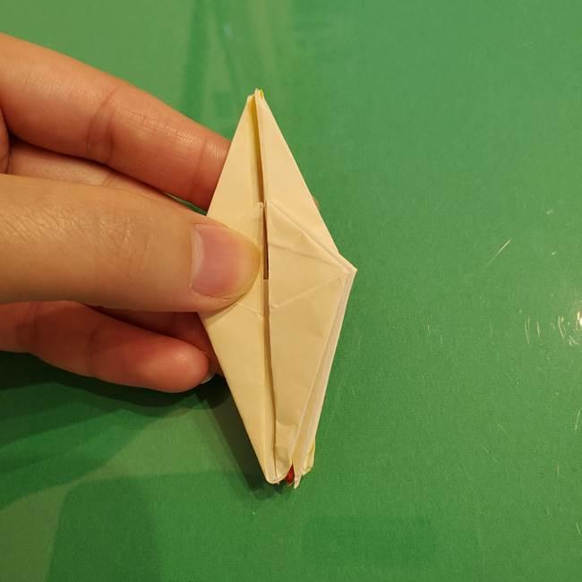 折り紙のひまわり 立体的で少し難しい作り方折り方②折る(38)
