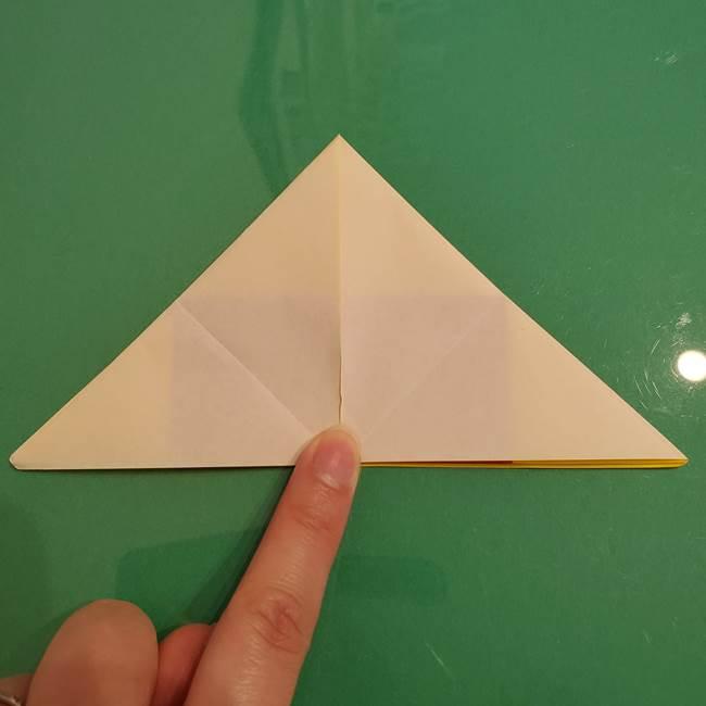 折り紙のひまわり 立体的で少し難しい作り方折り方②折る(4)