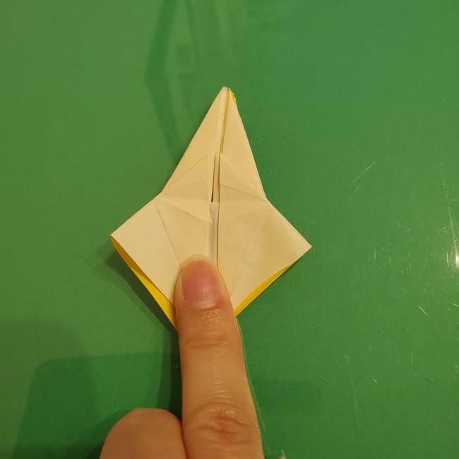 折り紙のひまわり 立体的で少し難しい作り方折り方②折る(42)