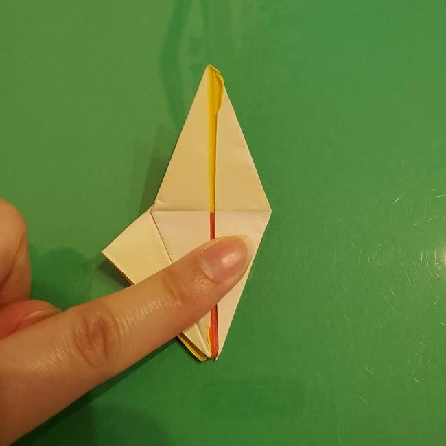 折り紙のひまわり 立体的で少し難しい作り方折り方②折る(43)