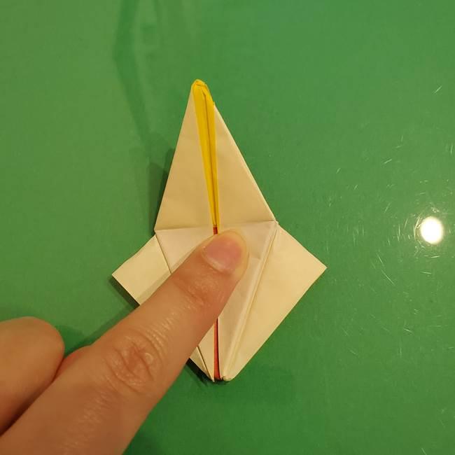 折り紙のひまわり 立体的で少し難しい作り方折り方②折る(45)