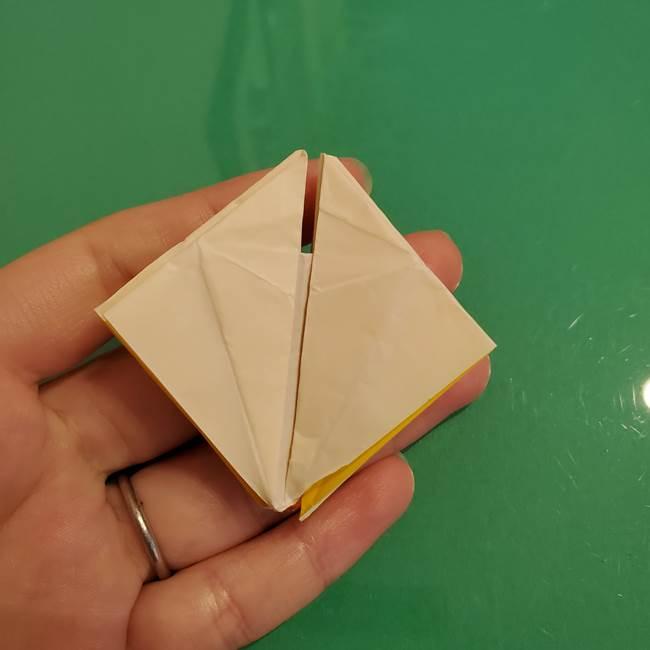 折り紙のひまわり 立体的で少し難しい作り方折り方②折る(46)