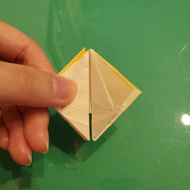 折り紙のひまわり 立体的で少し難しい作り方折り方②折る(47)