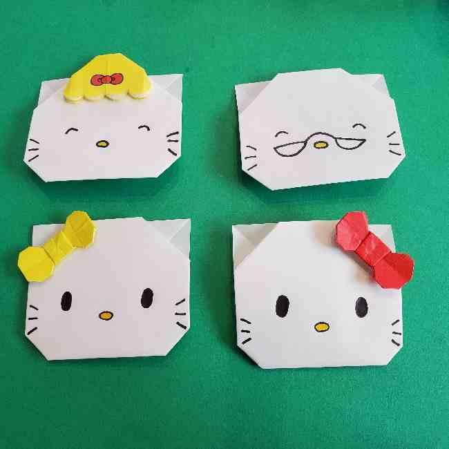 折り紙のキティのパパとママは同じ折り方!簡単かわいいキャラクター♪