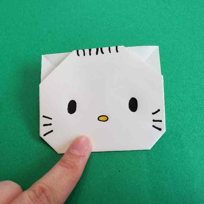 折り紙のダニエル(ハローキティ)の折り方作り方2