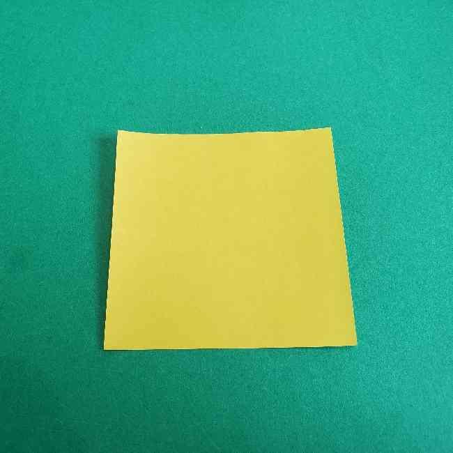 折り紙のミミィちゃんの折り方作り方①リボン (1)