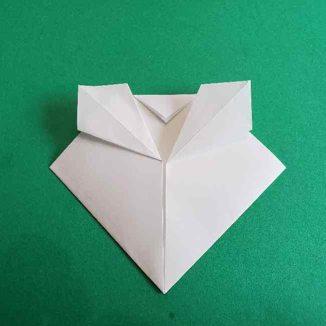 折り紙のミミィちゃんの折り方作り方②顔 (8)