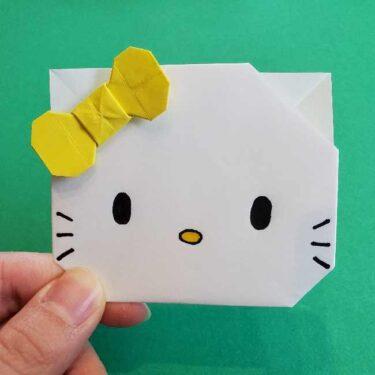 折り紙のミミィちゃんの折り方作り方★ハローキティーの妹は簡単かわいい♪