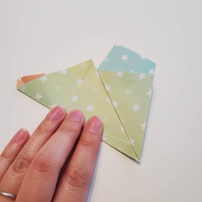 折り紙の星型の切り方折り方①折る(10)