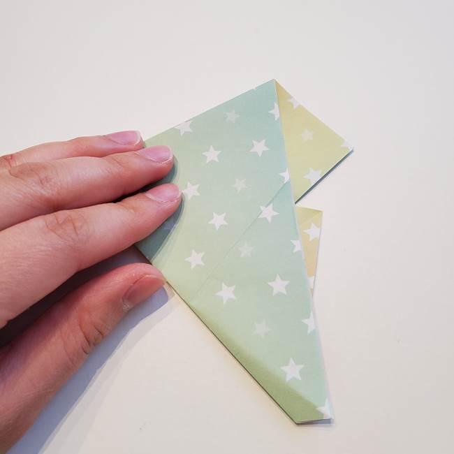 折り紙の星型の切り方折り方①折る(11)