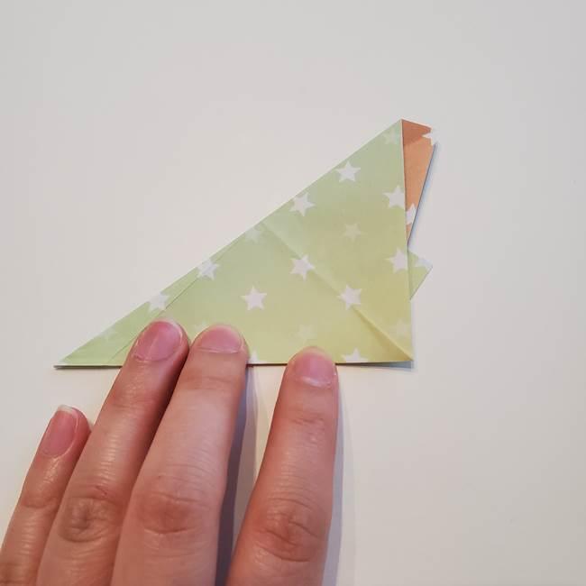 折り紙の星型の切り方折り方①折る(12)