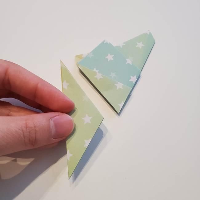 折り紙の星型の切り方折り方①折る(15)