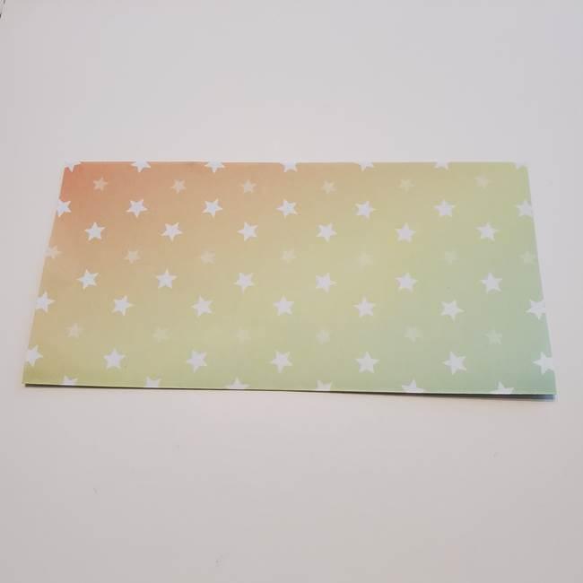 折り紙の星型の切り方折り方①折る(2)