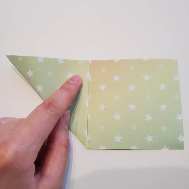 折り紙の星型の切り方折り方①折る(3)
