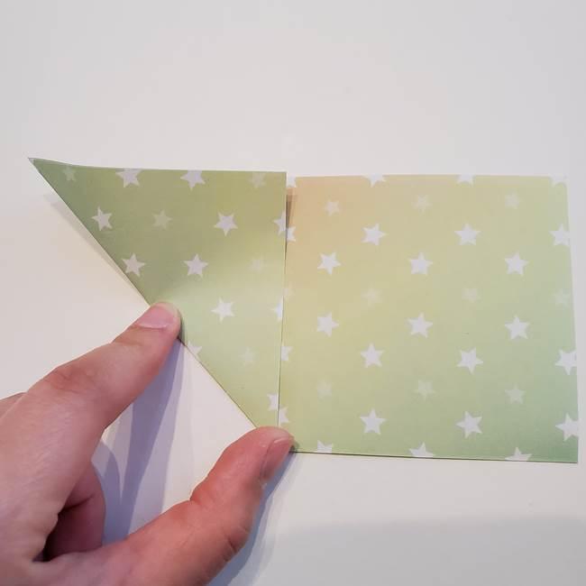 折り紙の星型の切り方折り方①折る(4)