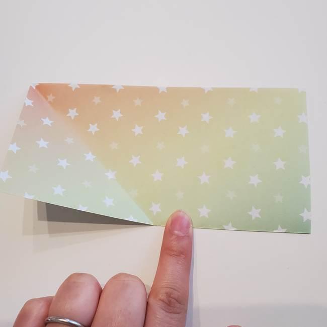 折り紙の星型の切り方折り方①折る(5)