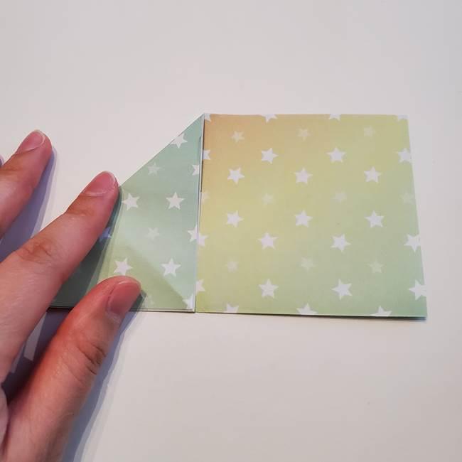 折り紙の星型の切り方折り方①折る(6)