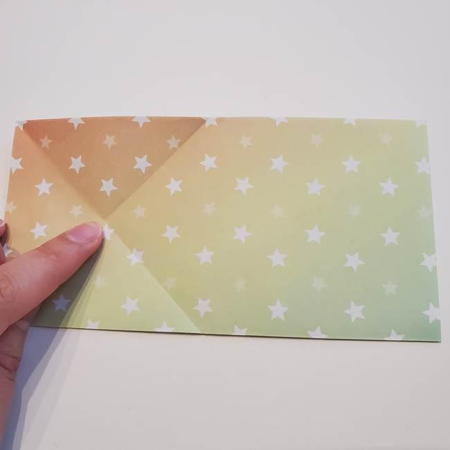 折り紙の星型の切り方折り方①折る(7)