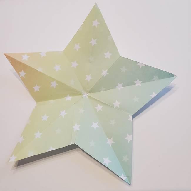 折り紙の星型の切り方折り方②完成(1)
